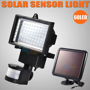 new 60 led solar sensor light motion detection security