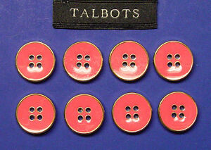 From TALBOTS outfit 8 PINK ENAMELED 15 MM SEW THRU BUTTONS GREAT FOR DIY PROJECT