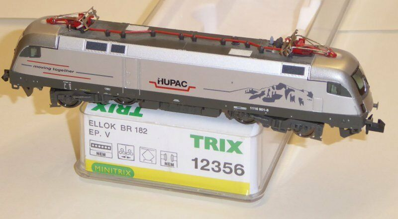Minitrix 12770 gasóleo br 182-es 64 u2 Taurus hupac ep5 con DSS usado, embalaje original