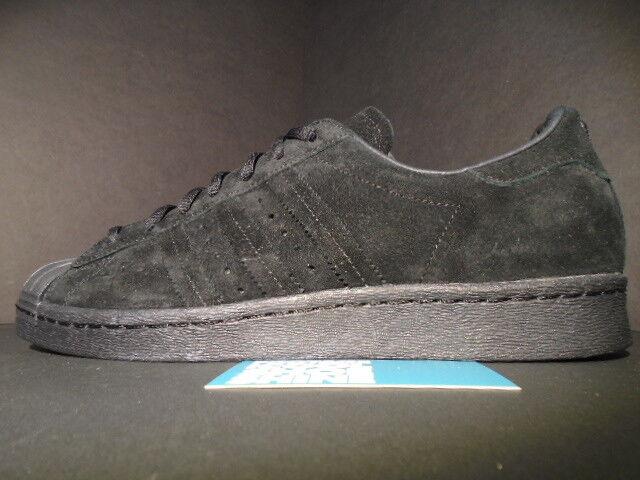 Adidas superstar noch unveröffentlichte stichprobe auftrieb. schwarzen wildleder karte f37750 auftrieb. stichprobe 2ad249