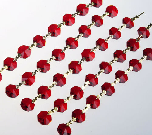 1 Yard Crystal 14mm Octagon Beads Diamond Garland Glass Wedding Chandelier Parts