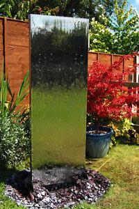 Wasserwand aus Edelstahl Wasserspiele Gartenbrunnen Garten ...