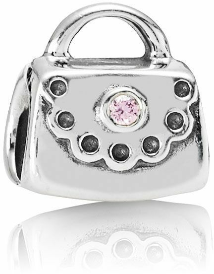 72f1611a8 Authentic PANDORA 925 Silver Scalloped Purse W/ Pink CZ Bead Charm  790473pcz for sale online | eBay