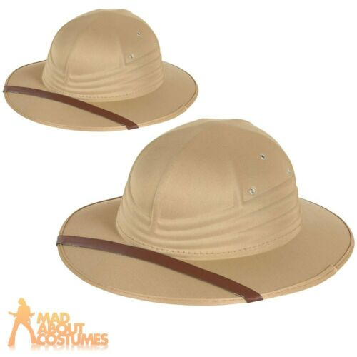 Safari Explorer Hat Zoo Keeper Ranger Outback Kids Adults Fancy Dress Accessory