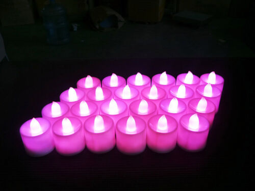 5x 10X Flame LED Candle Super Realistic Electronic Tea Light Multicolor GL710