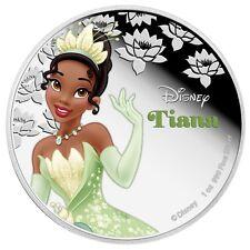 Niue - 2 Dollar 2016 - Tiana - Disney Prinzessinnen (7.) 1 Oz Silber Farbe in PP
