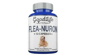 1-YEAR-SUPPLY-Monthly-Flea-Control-Dogs-21-45-Lbs-205-Mg-GoodLife-12-Capsules