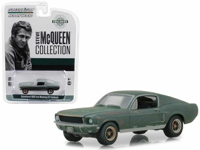 1968 Mustang Bullitt in 1:64 with Steve McQueen figure in 1:18 by Greenlight