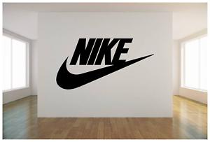 Nike Logo Check Mark Wall Vinyl Art Decal 36x18 Bedroom Home Decor