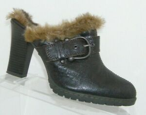B-O-C-Born-Concept-brown-leather-BC6387-faux-fur-lined-slip-on-clogs-8-39