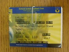 25/08/2004 Ticket: Oxford United v Reading [Football League Cup] . Thanks for vi