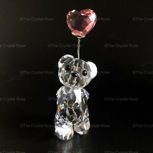 Swarovski-Crystal-Kris-Bear-I-Love-You-842933-Pink-Heart-Balloon-Mint-Boxed