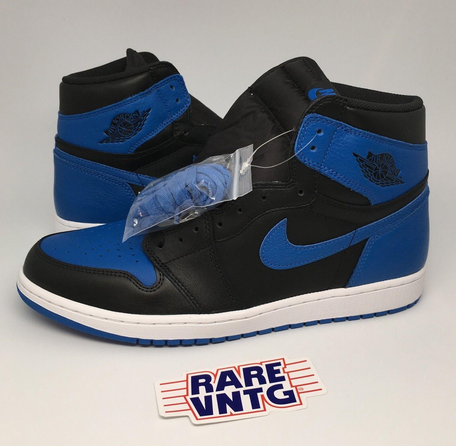 2017 Nike Air Jordan Blue 1 Retro Sneakers Royal Blue Jordan Black Size 13 Deadstock Bred 4cdbda