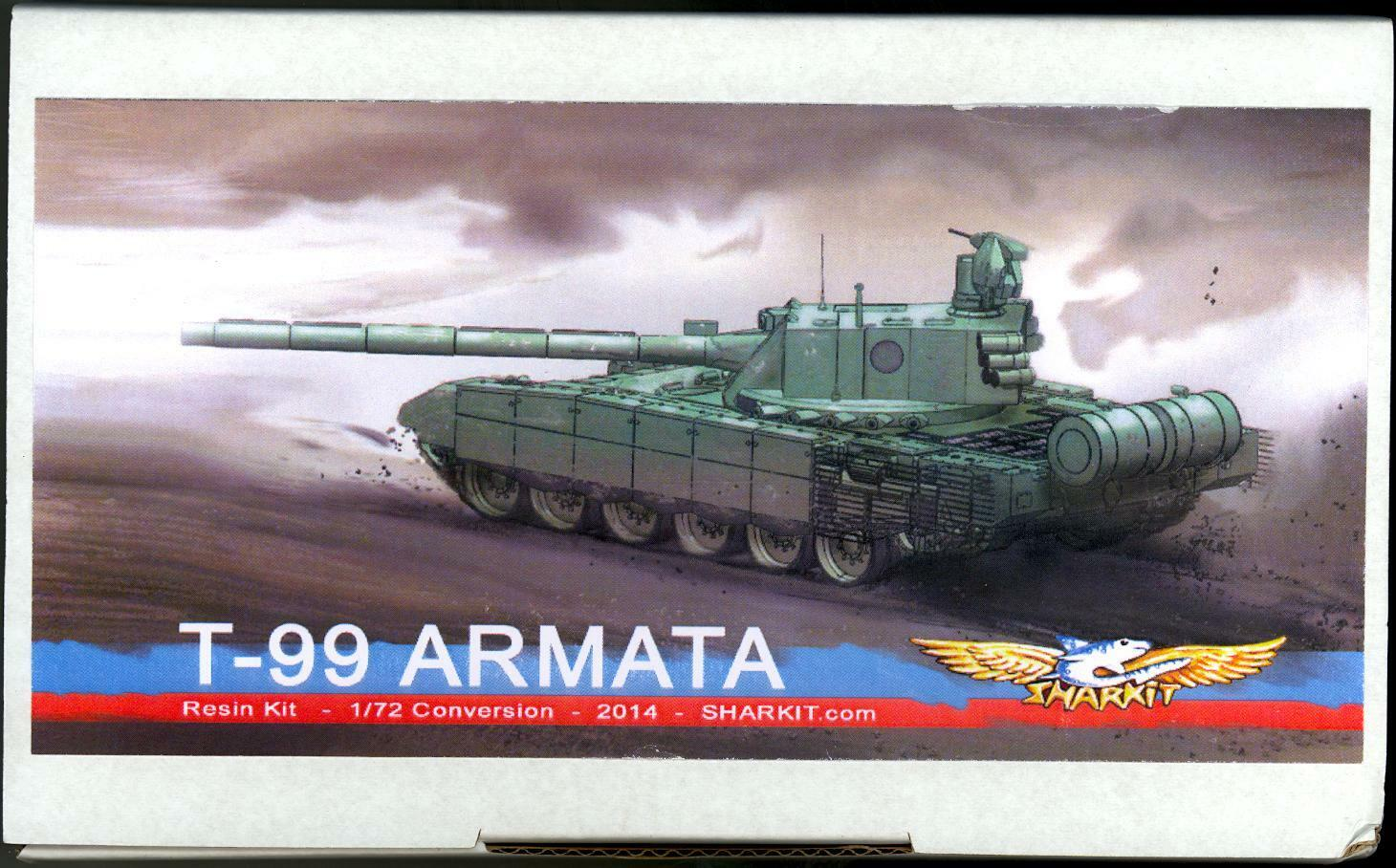 Sharkit Models 1 72 Russian T-99 ARMATA TANK Resin Conversion Kit