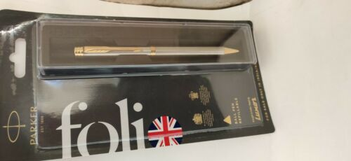 """BLUE PARKER FOLIO GT TWIST MECHANISM STAINLESS STEEL BALL PEN /""""New Launched/"""""""