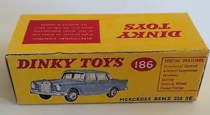 Dinky-186-Mercedes-Benz-220-SE-Empty-Repro-Box-Only