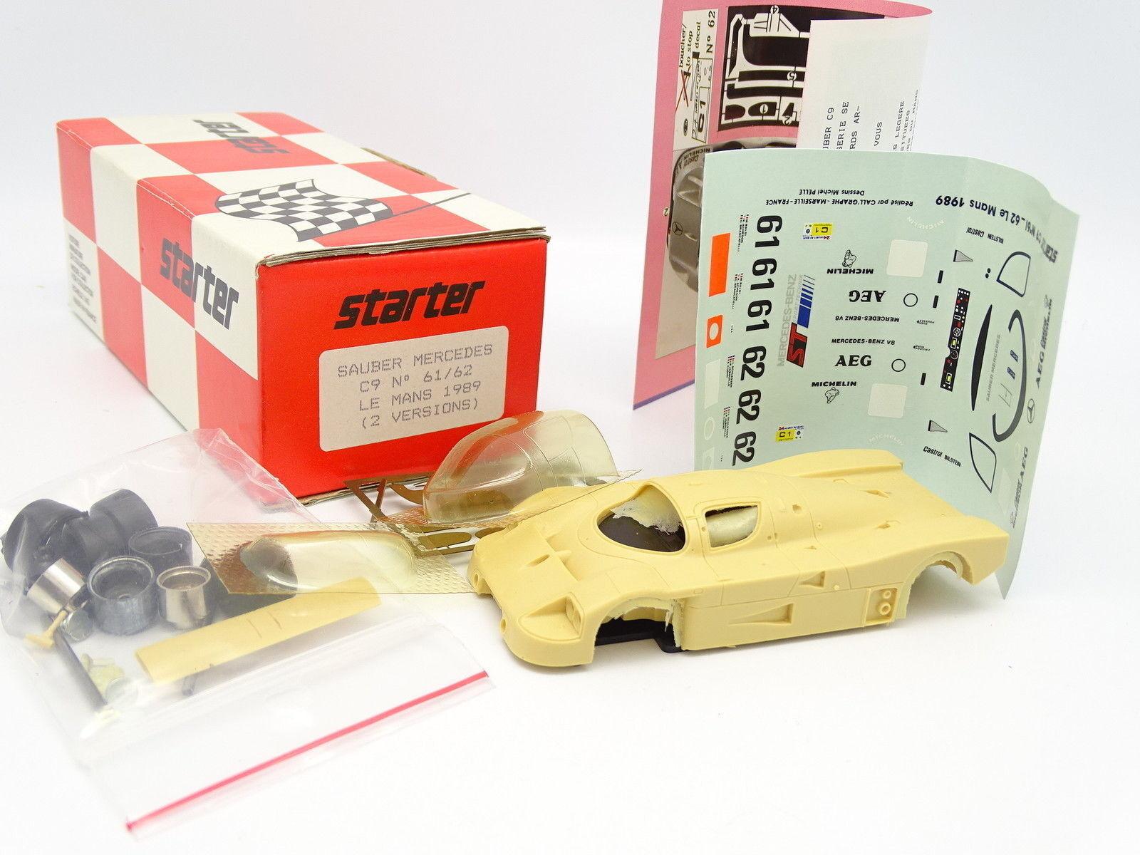 Starter Kit à Monter 1 43 - Sauber Mercedes C9 N°61 62 Le Mans 1989