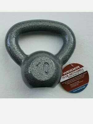 New Weider 10 lb Pound Kettlebell Tone and Sculpt Gym Exercise Weight WKB1013