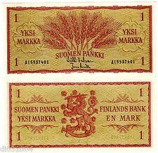 Finlande FINLAND Billet 1 MARKKA 1963 P98 Blé NEUF UNC