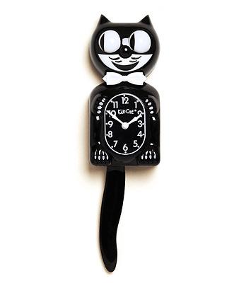 Classic  KIT KAT KLOCK - BLACK KITTY CAT CLOCK - MADE IN THE USA - FS Same Day