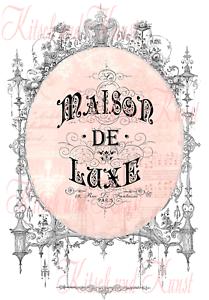 Abziehbild Maison de Luxe Decalfolie Laser shabby chic Möbeltattoo A 4