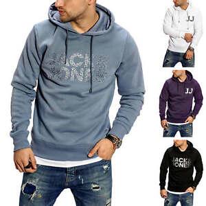Jack-amp-jones-senores-Hoodie-con-Print-sudaderas-Sweater-sudadera-Jersey