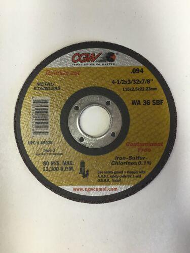 "5 Quickie Cut Camel White Aluminum Oxide Cut Off Wheels  4-1//2/"" X 3//32/"" X 7//8/"""