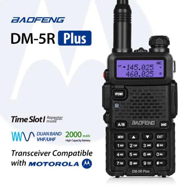2017 Baofeng DM-5R *Plus* Two Way Radio V/UHF Time Slot 1 Work with Motorola
