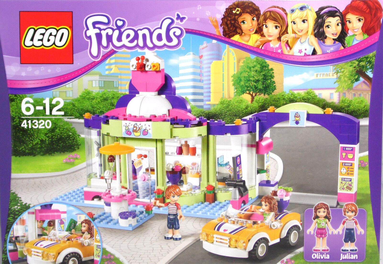 LEGO Friends 41320 Joghurteisdiele mit Drive-in Olivia Julian Auto Exclusiv  NEU