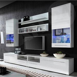 Perfekt Das Bild Wird Geladen Wohnwaende Caroline Wohnmoebel Wohzimmer Set Moderne  Wohnwand LED