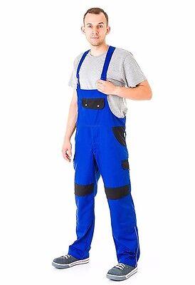 Bib And Brace Overalls Mens Work Trousers Knee Pad Dungarees Multi Pocket Blue. Dinge FüR Die Menschen Bequem Machen