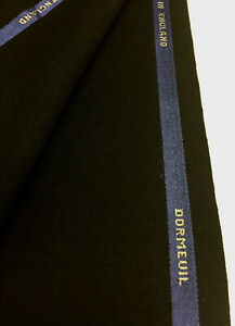 3-Metres-Black-Cavalry-Twill-100-Wool-Jacketing-Fabric-360g-By-DORMEUIL
