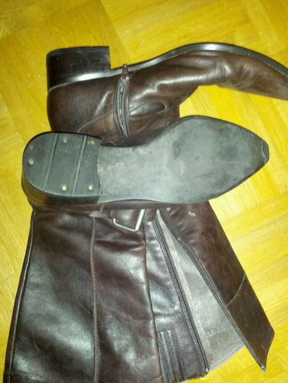 Stiefel, braun, Leder, braun, Stiefel, mit Reissverschluss,Gr. 39, gebraucht e81f22