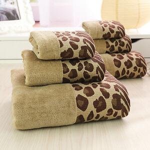 Hand-Bath-Towels-Leopard-Luxury-Towel-Set-100-Pure-Egyptian-Cotton-Face-Hot