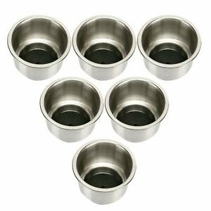 Stainless Steel Cup Drink Holder with Drain for Marine Boat RV Camper 4Pack