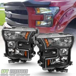 Image Is Loading Black Special Edition Headlamps For 2017 Ford