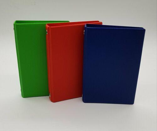 Ledernarbung 13mm Veloflex Taschenringbuch A7 4-O-Ringe