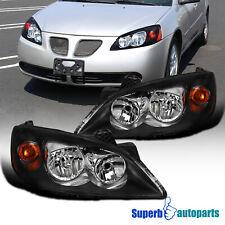 For 2005 2010 Pontiac G6 Black Headlights Replacement Turn Signal Head Lamps Fits Pontiac G6