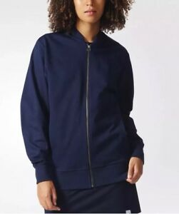 00cb486b Details about NWT Womens adidas Originals Navy Blue XbyO Full Zip Track  Jacket Sz M Medium