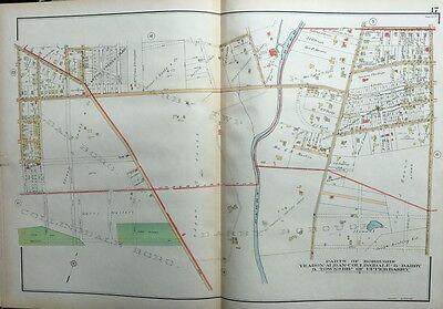 1929 DELAWARE COUNTY PENNSYLVANIA SPRINGFIELD TOWNSHIP CENTRAL SCHOOL ATLAS MAP