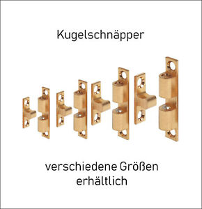 Doppel-kugelschnaepper-Schnapper-Kugelschnaepper-massiv-Messing-43-49-60-70-mm