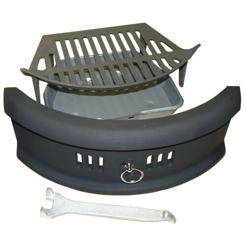 "Fond feu grille repose-pieds en fonte rond Bow Front Open Fire 18/"" kit complet"