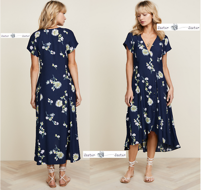 c61c1921f8c8 FREE PEOPLE SMALL Lost In You Midi Dress BLUE New Tags   eBay