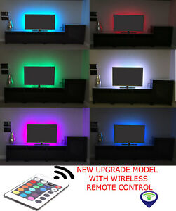 Rgb led strip usb colour changing lighting kit 50cm tv pcps4 image is loading rgb led strip usb colour changing lighting kit mozeypictures Image collections