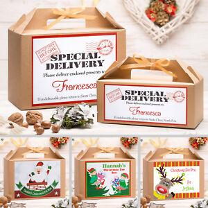 Personalised-Vigilia-di-Natale-Scatola-Regalo-Regalo-di-Natale-Favore-Grandi-amp-Piccole-Dimensioni