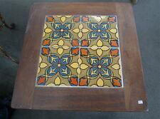 California Tile Table  Malibu Tiles in mission wood base