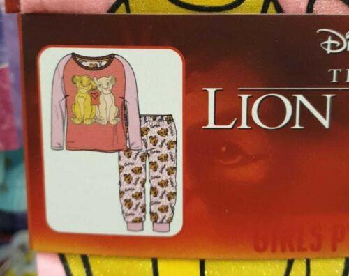 Disney Lion King Pyjama Set Girls Kids Full Pj Set Age 3-10 Years Nightwear