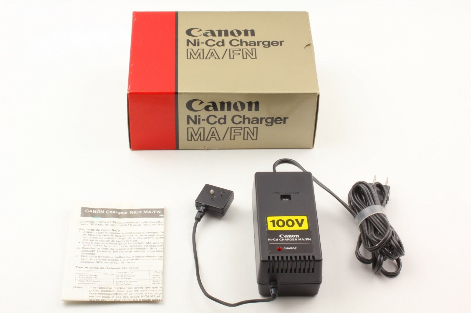 【MINT in Box】Canon 100V Ni-Cd Charger MA/FN From Japan #574