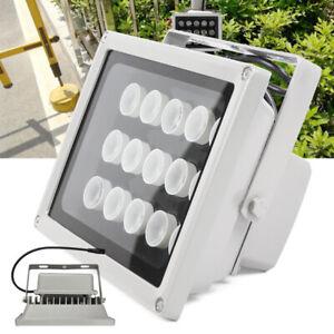 12V Night Vision 15 LED IR Infrared Illuminator Lamp Outdoor Security Floodlight