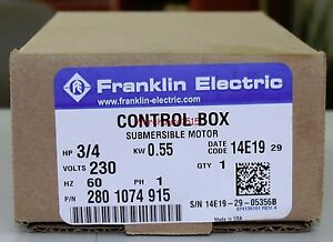 franklin electric 2801074915 fe 3 4 hp control box for 3 wire image is loading franklin electric 2801074915 fe 3 4 hp control
